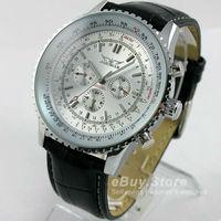 2014 Luxury Watch for Men 6 Hands Week/Date/24H Mechanical Auto Watches Sport Wristwatch Free Ship
