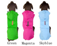 2014 new fashion dogs.High quality dog raincoat poncho raincoat three-color large dogs