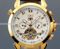 Luxury Watch for Men Date Tourbillon Mechanical Automatic Watches Men's Wristwatch Free Shipping