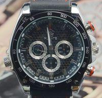 2014 Fashion Black Deluxe AUTO Mechanical 6 Hand Mens Sports Watch Wristwatch Xmas Gift Free Ship
