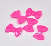 Rosy Bow Flatback Resin Cabochon Cell Phone Case DIY Handmade Decoration Accessory 40PCS/Lot