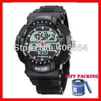50M Waterproof analog digital watch Dual quartz Date Alarm business style wristwatch for men pilot multi-functional sports watch