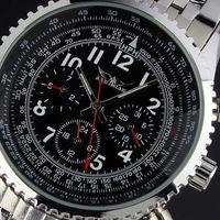 2014 Luxury Watch for Men Date Tourbillon Mechanical Automatic Watches Men's Wristwatch Free Shipping