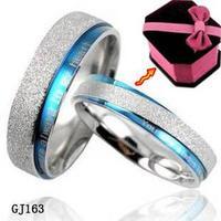 Korean style titanium steel rings couple rings Accessories pearl scrub shine ring lovers ring gj163