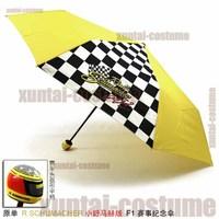 Small schumacher unique umbrella personalized automobile race umbrella yellow umbrella f1 commemorative edition limited la19