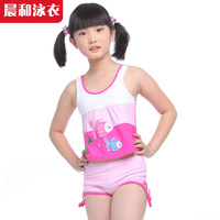 2014 Special Offer Top Fasion Freeshipping Cotton Striped Free Shipping! Girl Swimsuit for T3 - 11years Old Child