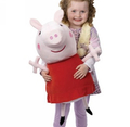 freeshipping  peppa pig &amp; george pig pink Pepe pig sister interconvert pillow stuffed plush