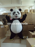 White Belly Panda Mascot Costume Fancy Dress Outfit EPE
