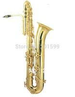 gold lacquer bass saxophone  HSL-6001