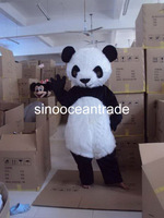 Dolichotrichus Head And Belly Girl Panda Mascot Costume Fancy Dress Outfit EPE