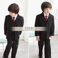 Classic boys formal dress male child formal dress male flowers children's clothing child suit 6 piece set child suit set
