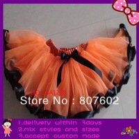 orange trim tutus, pettiskirt free shipping,extra larger size fit for 9-14T