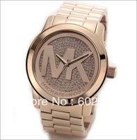 Free by china post(1pcs/lot)oversize New fashion standard Quality fashion Men size Mk watch with mk logo+ 4 colors available