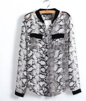 2013Free shipping I Q shop/NEW sale!BF style,fashion  ladies snake shirt/girls have