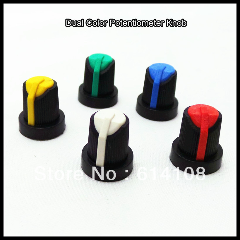 Wholesale Dual Color Plastic Knob,Volume Control Knob Supplier Free Shipping(China (Mainland))