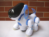 free shipping robot dog electric pet toy auto run with sound and music for chidren's gift