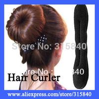12pcs New 2014 Personal Styling Tools Magic Sponge Hair Bun Maker Twist Hair Curler Roller Beauty Care -- MSP31 Free Shipping