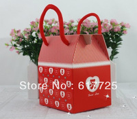 Wholesale - 100pcs - New Arrival Wedding Favor Cute Bear Hand Carry Love Candy Gift Boxes Factory Price Free Shipping