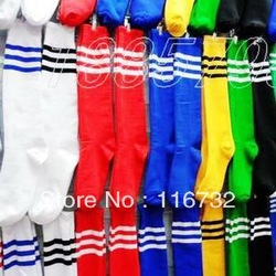 free shipping blank cotton soccer socks stockings best football stockings plain stockings students socks(China (Mainland))