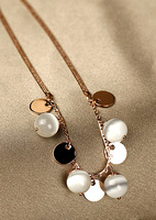 Accessories k gold - eye wafer pendant chain colnmnaris female necklace