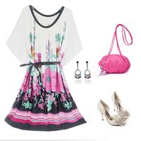 Женское платье High Quality 2013 Spring Women's Solid Color Slim High Waist A-line Skirt Brief Elegant One-piece Dress
