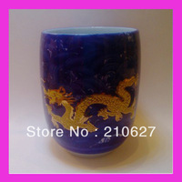 Aliexpress Promotional ceramic tea cup famous chinese brand,suit for coffee or tea with Golden Dragon 4pcs/lot free shipping