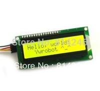 Free  shipping  ,,10pcs  IIC/I2C 1602 LCD module yellow-green screen