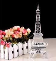 Hot selling Crystal Tower Eiffel Tower model year birthday gift home furnishing decoration