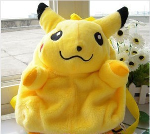 I4 Cute Pikachu Style Plush backpack, free shipping