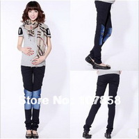 Wholesale - 2013 New Spring Fashion pants feet Maternity jeans Pregnant women Jeans Casual Maternity abdominal pants #W053