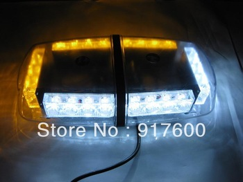 Led Car Emergency Strobe Flash Light Lamp Waterproof Magnet Amber White Mini Lightbar