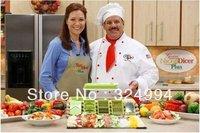 Free Shipping Nicer Dicer Plus As Seen On TV,Dice Chop Julienne Fruit Vegetable Multi-Chopper,Food Slicer,1piece/lot