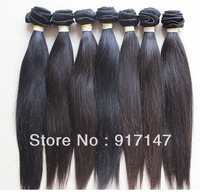 "Wholesale - 12""-28"" 100% Brazilian Virgin Human Machine Hair Weft natural black Straight hair 10pcs/lot"