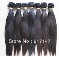 "Wholesale - 12""-28"" 100% Brazilian Virgin Human Machine Hair Weft natural black Straight hair 10pcs/lot"