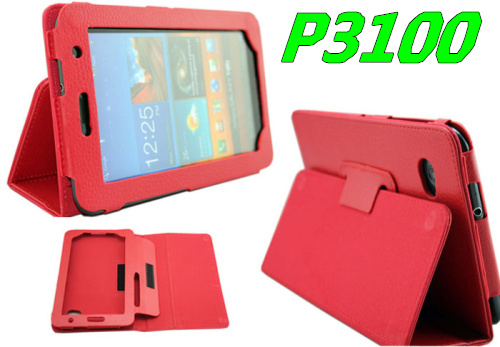 High Quality Litch design leather case for Samsung Galaxy Tab 2 P3100 P3110,5pcs/lot, HK/China Post Air Mail Free Shipping,C0054(China (Mainland))
