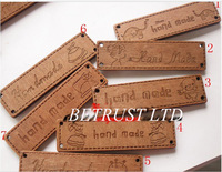 Free Shipping 100PCS  64*17MM  17styles Handmade Letter Natural Wooden Button Wooden Board  DIY Handmade Decoration