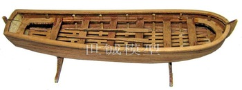 Model wood sailing boat assembling set 180mm wooden lifeboat kit