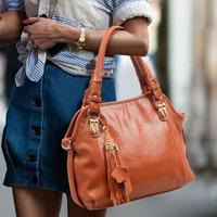 Genuine leather women's handbag 2013  fashion vintage cowhide one shoulder cross-body handbag serpentine pattern women's bag
