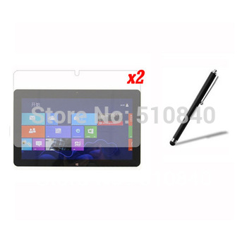 3in1 Accessories 2x New Clear Screen Protector Film Guards + 1x Stylus For Windows8 Acer Iconia Tab W510 W511 +Free shipping
