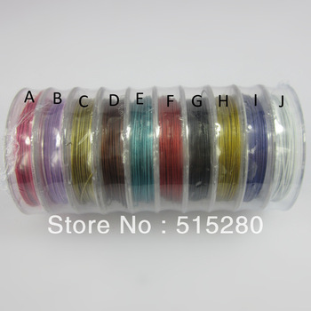 10 Rolls Stainless Steel tiger tail,diameter 0.38mm beading wire, jewelry making supplies