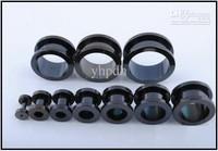 14-24mm Mix 60pcs Titanium Anodized Black Stretcher Flesh Tunnel Ear Plug Big Size Ear Expander Plugs Piercing Body Jewelry
