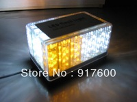 48 LED Car Truck Roof Tow Mini Strobe Flash Emergency Lightbar Amber White