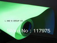 Luminescent/ Glow in the dak/photoluminescent PVC vinyl film 1m*25m(China (Mainland))