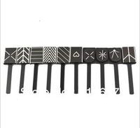 Magic 3D Magnetic Magnet Zebra Plate UK Flag Style Pattern Nail Art Polish Tool 10 pieces