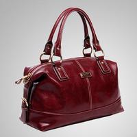 2013 casual fashion hydrowax genuine leather women's handbag / waxy vintage leather handbag for morden women / free shipping
