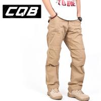 Cqb outdoor hiking pants trousers male loose trousers overalls multi pocket pants trousers male tactics pants