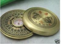 "Collectables Rare Tibetan Brass ""Feng Shui"" Compass"