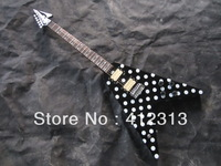 free shipping Hot selling Randy Rhoads flying V guitar with high quality  hardcase  and ebony fingerboard
