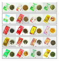 20 Different Flavor Famous Tea ,Milk oolong,Tikuanyin,jinjunmei,lapsang souchong,biluochun,jasmine tea,puer tea,free shipping