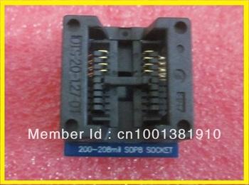 Free shipping 10PCS/LOT SOP Adapter SOP8 to DIP8 200-208Mil USB universal Progrmmer IC Socket TL866CS/TL866A/EZP2010/G540/SP300